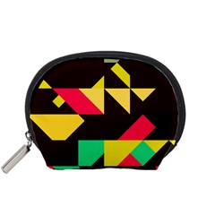 Shapes In Retro Colors 2 Accessory Pouch (small)