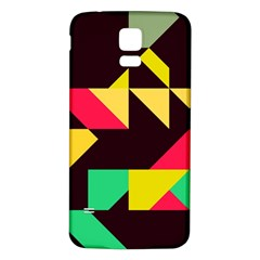 Shapes in retro colors 2 Samsung Galaxy S5 Back Case (White)