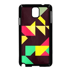 Shapes in retro colors 2 Samsung Galaxy Note 3 Neo Hardshell Case (Black)