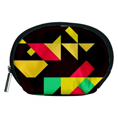 Shapes In Retro Colors 2 Accessory Pouch (medium)
