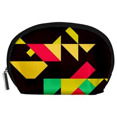 Shapes in retro colors 2 Accessory Pouch (Large)