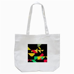 Shapes in retro colors 2 Tote Bag (White)