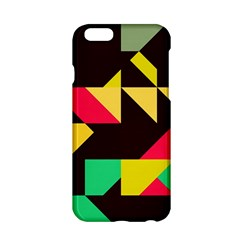 Shapes In Retro Colors 2 Apple Iphone 6 Hardshell Case