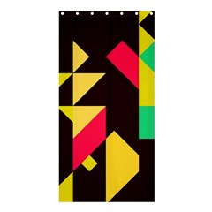 Shapes In Retro Colors 2 Shower Curtain 36  X 72  (stall)