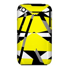 Yellow, black and white pieces abstract design Apple iPhone 3G/3GS Hardshell Case (PC+Silicone)
