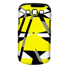 Yellow, black and white pieces abstract design Samsung Galaxy S III Classic Hardshell Case (PC+Silicone)