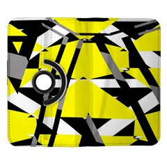 Yellow, black and white pieces abstract design Samsung Galaxy Note II Flip 360 Case