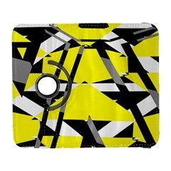 Yellow, black and white pieces abstract design Samsung Galaxy S  III Flip 360 Case
