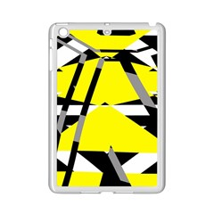 Yellow, Black And White Pieces Abstract Design Apple Ipad Mini 2 Case (white)