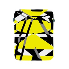 Yellow, Black And White Pieces Abstract Design Apple Ipad 2/3/4 Protective Soft Case