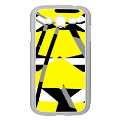 Yellow, black and white pieces abstract design Samsung Galaxy Grand DUOS I9082 Case (White)