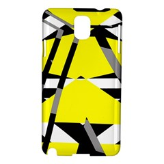 Yellow, black and white pieces abstract design Samsung Galaxy Note 3 N9005 Hardshell Case