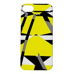 Yellow, Black And White Pieces Abstract Design Apple Iphone 5s Hardshell Case