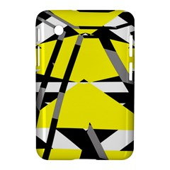 Yellow, Black And White Pieces Abstract Design Samsung Galaxy Tab 2 (7 ) P3100 Hardshell Case