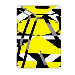 Yellow, black and white pieces abstract design Samsung Galaxy Tab 2 (10.1 ) P5100 Hardshell Case