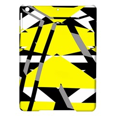 Yellow, black and white pieces abstract design Apple iPad Air Hardshell Case