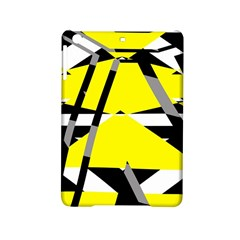 Yellow, black and white pieces abstract design Apple iPad Mini 2 Hardshell Case