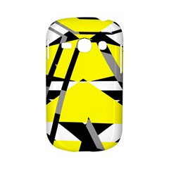 Yellow, black and white pieces abstract design Samsung Galaxy S6810 Hardshell Case