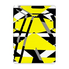 Yellow, black and white pieces abstract design Samsung Galaxy Note 10.1 (P600) Hardshell Case