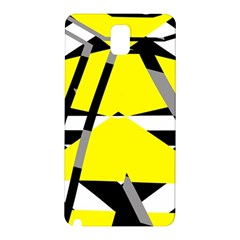 Yellow, black and white pieces abstract design Samsung Galaxy Note 3 N9005 Hardshell Back Case