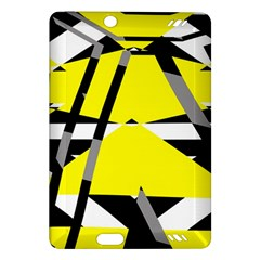 Yellow, black and white pieces abstract design Kindle Fire HD (2013) Hardshell Case