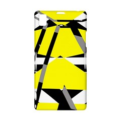 Yellow, black and white pieces abstract design Sony Xperia Z1 L39H Hardshell Case