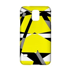 Yellow, black and white pieces abstract design Samsung Galaxy S5 Hardshell Case