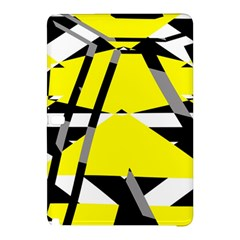 Yellow, black and white pieces abstract design Samsung Galaxy Tab Pro 10.1 Hardshell Case