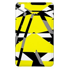 Yellow, black and white pieces abstract design Samsung Galaxy Tab Pro 8.4 Hardshell Case