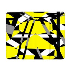 Yellow, black and white pieces abstract design Samsung Galaxy Tab Pro 8.4  Flip Case