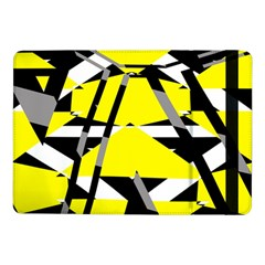 Yellow, black and white pieces abstract design Samsung Galaxy Tab Pro 10.1  Flip Case