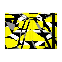 Yellow, black and white pieces abstract design Apple iPad Mini 2 Flip Case