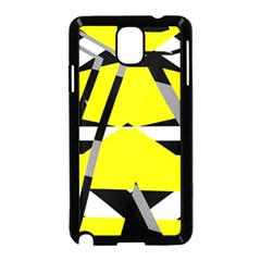 Yellow, black and white pieces abstract design Samsung Galaxy Note 3 Neo Hardshell Case (Black)