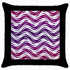 Purple Waves Pattern Throw Pillow Case (black)