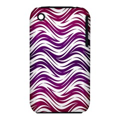 Purple waves pattern Apple iPhone 3G/3GS Hardshell Case (PC+Silicone)