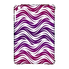 Purple waves pattern Apple iPad Mini Hardshell Case (Compatible with Smart Cover)