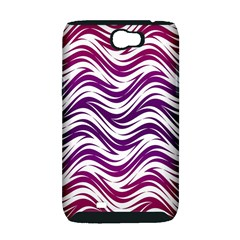 Purple waves pattern Samsung Galaxy Note 2 Hardshell Case (PC+Silicone)