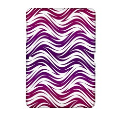 Purple waves pattern Samsung Galaxy Tab 2 (10.1 ) P5100 Hardshell Case