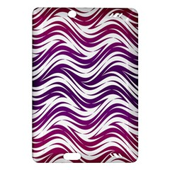 Purple waves pattern Kindle Fire HD (2013) Hardshell Case