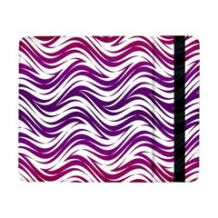 Purple Waves Pattern Samsung Galaxy Tab Pro 8 4  Flip Case