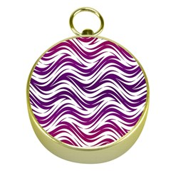 Purple waves pattern Gold Compass