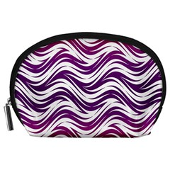 Purple waves pattern Accessory Pouch (Large)