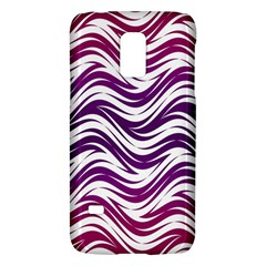 Purple waves pattern Samsung Galaxy S5 Mini Hardshell Case