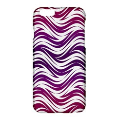 Purple waves pattern Apple iPhone 6 Plus Hardshell Case