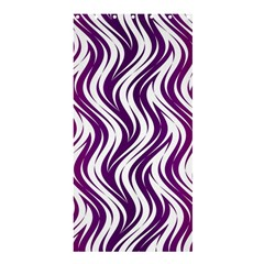 Purple Waves Pattern Shower Curtain 36  X 72  (stall)