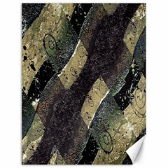 Geometric Abstract Grunge Prints In Cold Tones Canvas 18  X 24  (unframed)
