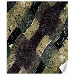 Geometric Abstract Grunge Prints In Cold Tones Canvas 20  X 24  (unframed)