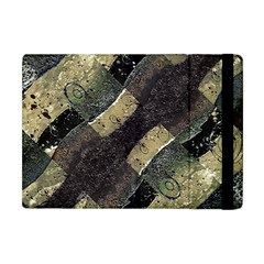 Geometric Abstract Grunge Prints In Cold Tones Apple Ipad Mini Flip Case