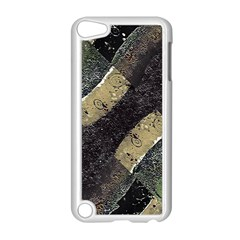 Geometric Abstract Grunge Prints In Cold Tones Apple Ipod Touch 5 Case (white)