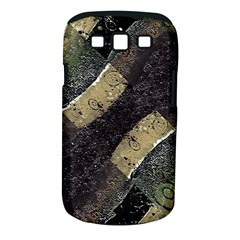 Geometric Abstract Grunge Prints In Cold Tones Samsung Galaxy S Iii Classic Hardshell Case (pc+silicone)